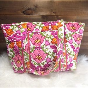 Vera Bradley Lilli Bell Pink and Orange Tote